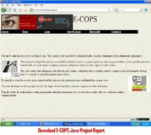Download-E--COPS-Java-Project-Report.