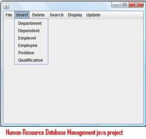 Human-Resource-Database-Management-java-project
