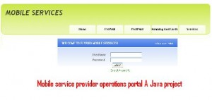 Mobile-service-provider-operations-portal-A-Java-project
