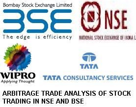 ARBITRAGE TRADE ANALYSIS OF STOCK TRADING IN NSE AND BSE