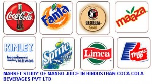 MARKET STUDY OF MANGO JUICE IN HINDUSTHAN COCA COLA BEVERAGES PVT LTD