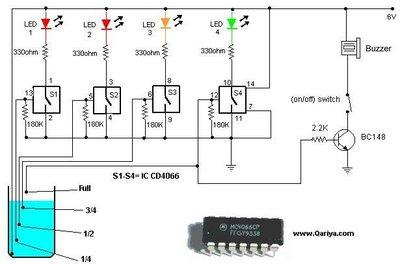 water level indicator with buzzer circuit electricalcorecircuits rh electricalcorecircuits blogspot com Train Horn Wiring Diagram 24VDC Power Supply Diagram