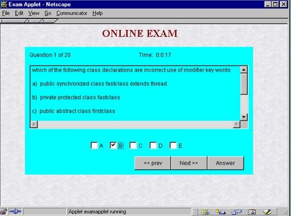 Online Examination Project Pdf
