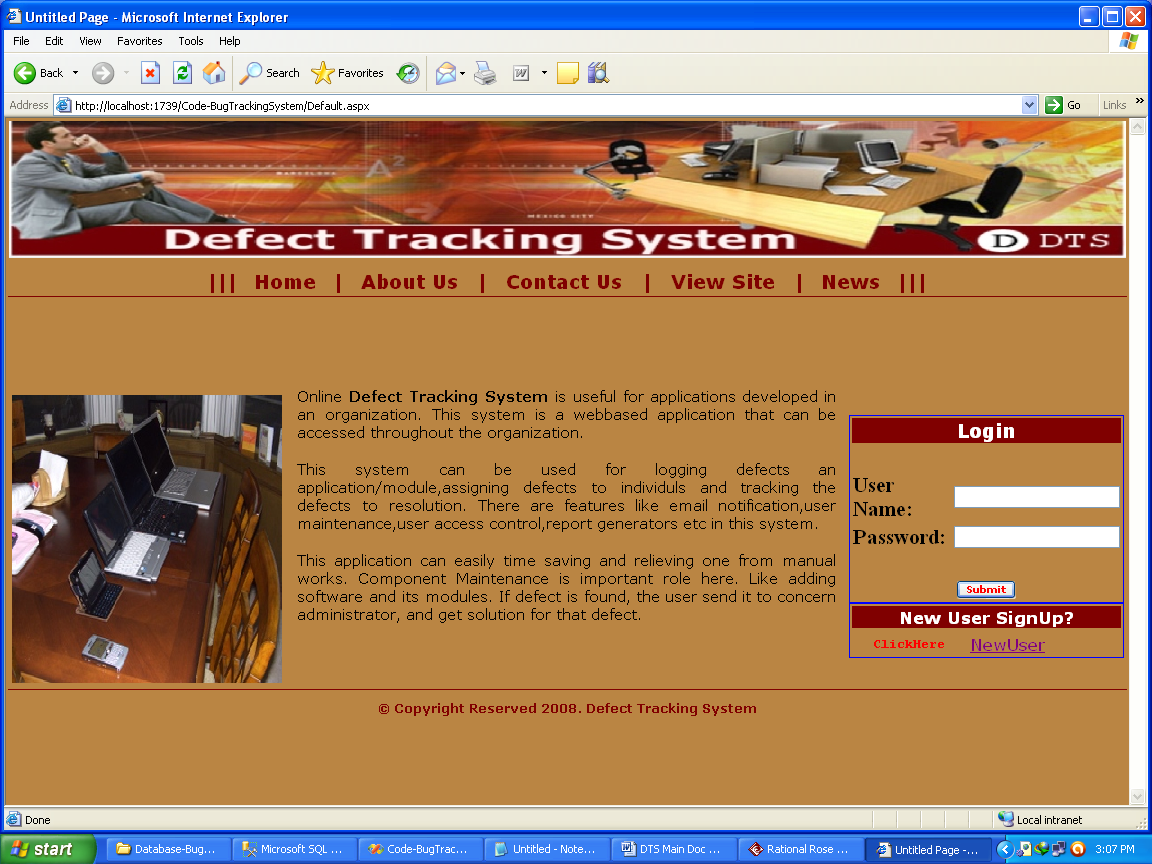 Online Defect Tracking System Project