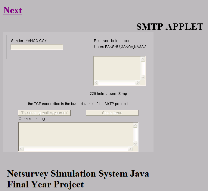 Netsurvey Simulation System Java Final Year Project