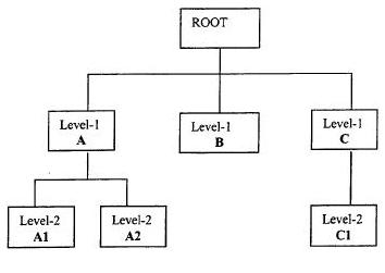 A Hierarchical Database Model Diagram