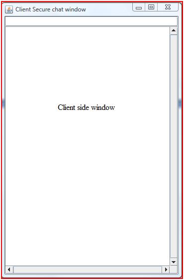 Client side window