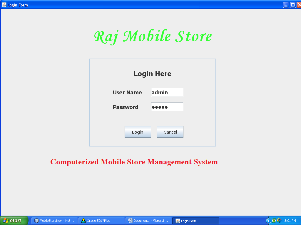 Computerized Mobile Store Management System