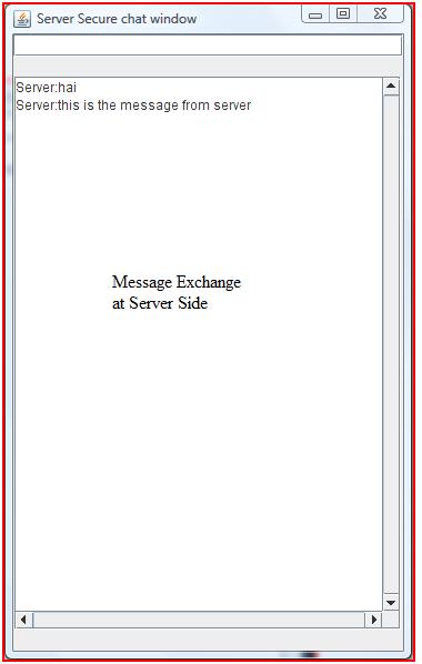 Message Exchange at Server Side