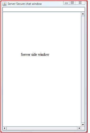 Server side window