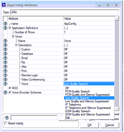 Setting the application configuration