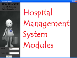 Hospital Management System Modules