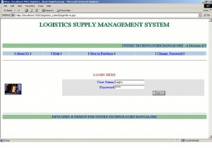 Logistics Supply Management System Project