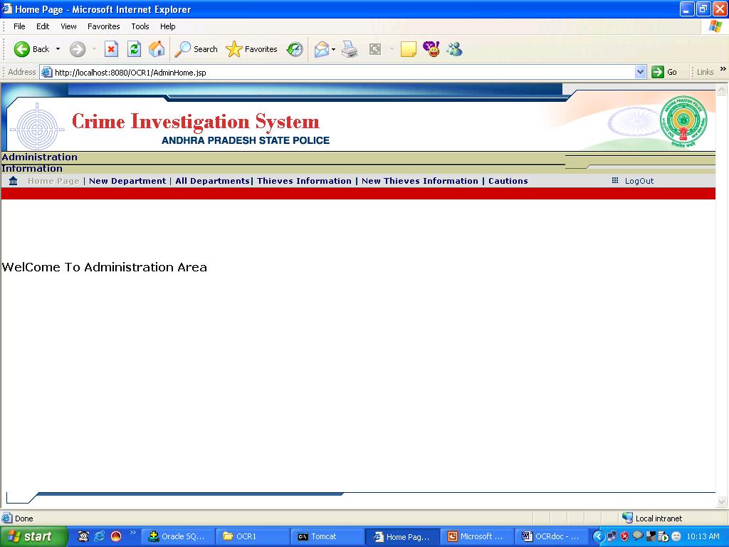 3.Admin Home Screen