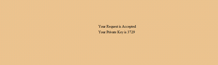 private key is accepted by the user