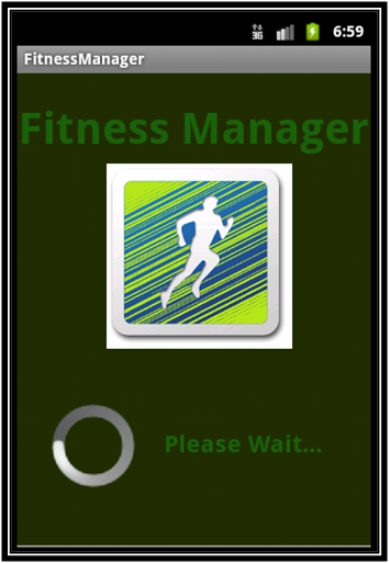 Fitness manager Android project