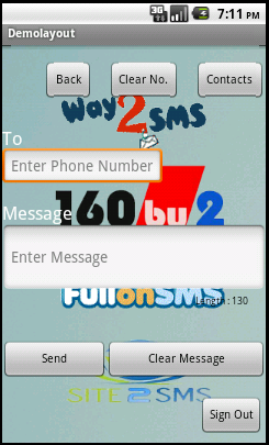 Free SMS Mobile Service Android Application