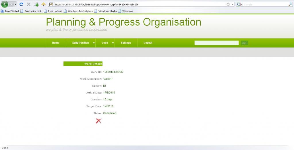 PPO Department Work Description Page