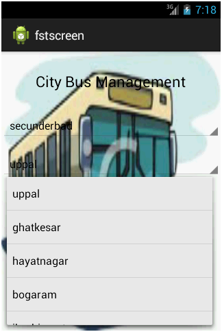 City Bus Management Place Details