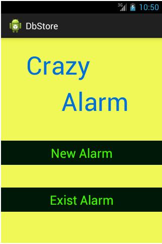 Crazy Alarm App Home Page