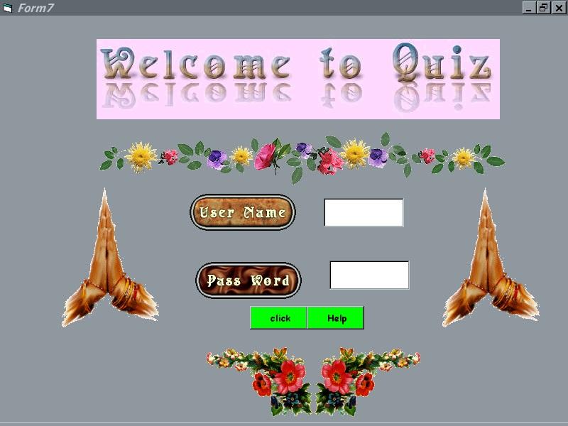 Quiz Handling System Project