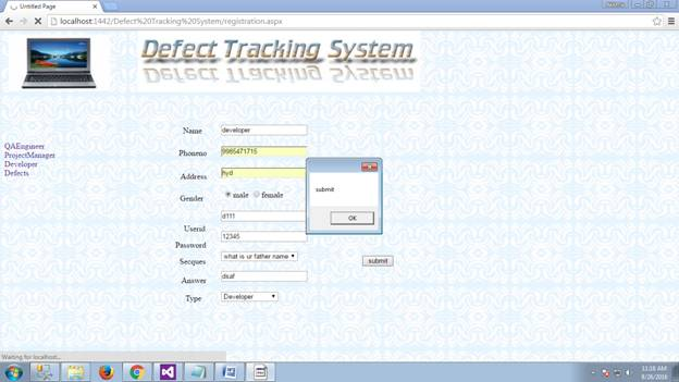 Defect Tracking System 18