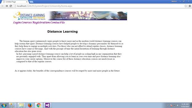 Distance learning system 01