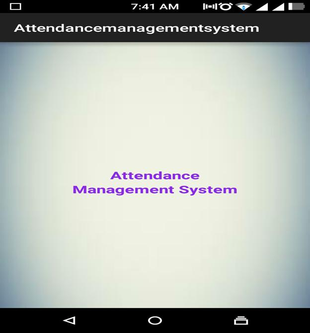 Mobile or Tablet Attendance System 07