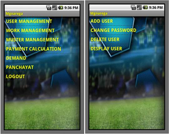 MGNAREGA Development System User Interface Design