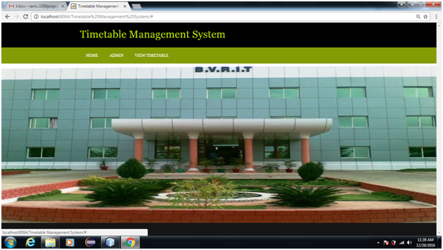 Time Table Management System