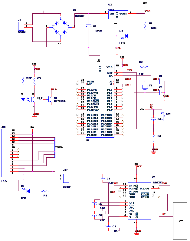 electronic eye embedded system project 1000 projects rh 1000projects org electronic eye security system circuit diagram Electronic Hobby Circuits Schematics
